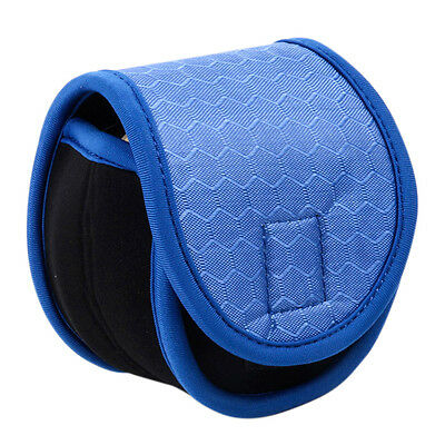 Neoprene Spinning Reel Glove Protective Storage Bag Pouch Case Cover Blue