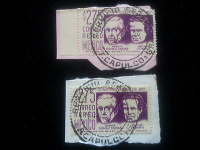 Mexico stamps x 2 with Acapulco postmarks