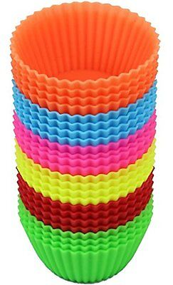 24 Pcs Bakerpan Silicone Cupcake Holders Liners Baking Muffin Mold Reg Cake Cup