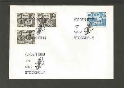 SWEDEN - 1969 Nordic Issue    - FIRST DAY COVER