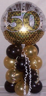 Age 50th Anniversary Birthday Foil Balloon Table Decoration Display Party