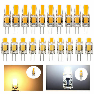 4x 10x G4 LED 3W 6W AC DC 12V COB lamp Corn bulb Silicone Crystal Light Dimmable