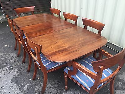 Grand George Iii Style Cuban Mahogany Dining Table Pro French Polished