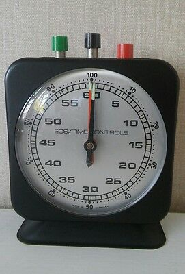 Vintage ECS time controls clock.. Made in West Germany.