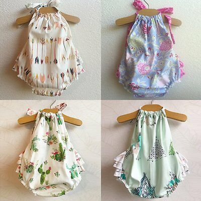 Cute Baby Infant Toddler Girls Floral Backless Layered Tutu Romper Jumpsuit
