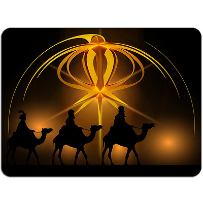Mousepad EasyGrip Non Slip Mouse Pad Christmas Camels Y00485