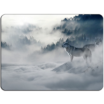 Mousepad EasyGrip Non Slip Mouse Pad Wolf Snow Y00946