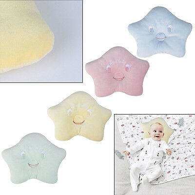 Soft Velvet Babys Pillow Newborn Infant Anti Flat Head Syndrome for Crib Cot Bed