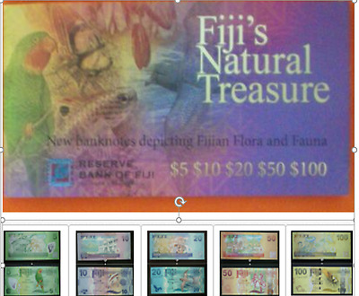 Fiji 2012 Banknotes FOLDER 5, 10, 20, 50 & 100 Dollars Limited Collectors Ed UNC
