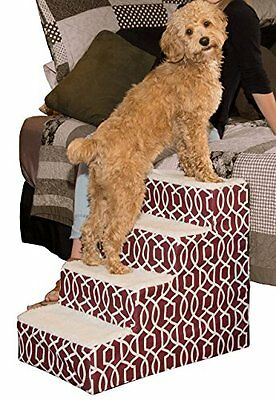 PETG-PG9640TDC-Pet Gear Soft Step IV Pet Stairs, 4-Step for Petsup to 50 lb, Tr