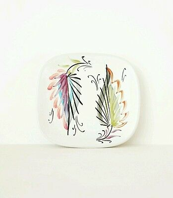 Vintage Bourne Denby Pottery Pin Dish Plate Art Deco 20s 30s 40s 50s handpainted