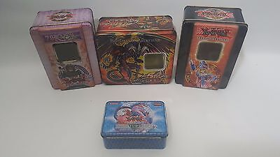 4x Yu-Gi-Oh / Yugioh Card Empty Trading Card Tins Collectors Protection Deck