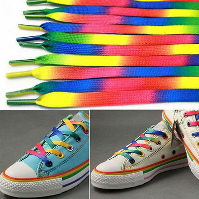 Rainbow Shoelace Candy Shoe Lace Boot Laces Shoelaces Strings *BUY 2 GET 1 FREE*