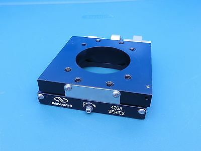 """Newport 426A Crossed-Roller Bearing Stage w/SM-13 Micrometer 2"""" Open Aperture"""