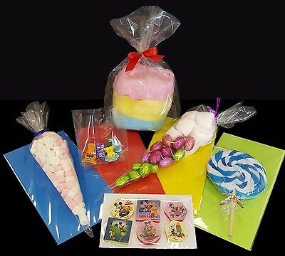 Clear Cellophane Party & Display Bags - Cones, Gussets, Sticky Self Seal & Lolly