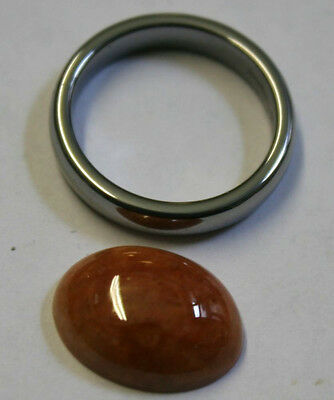 Natural Red Jade Large Loose Gemstone 12X16Mm Oval Cabochon 9Ct Gem Ja35B