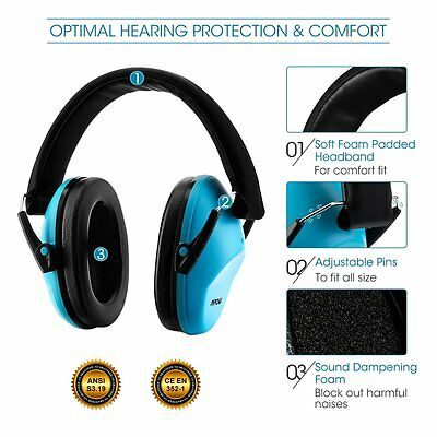 MPOW Children Kids Ear Defenders Protectors Noise Protection Ear Muffs 25dB UK