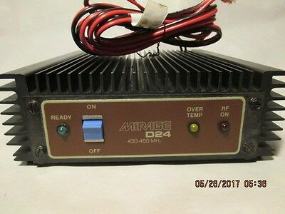 Mirage D24 UHF amateur radio 430-450 Mhz Amplifier 2 in for 40 out
