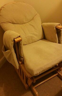 gliding nursing rocking chair with stool