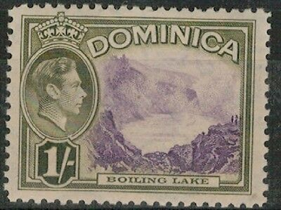 Lot 2788 - Dominica – 1938 1s violet and olive mint hinged King George VI stamp