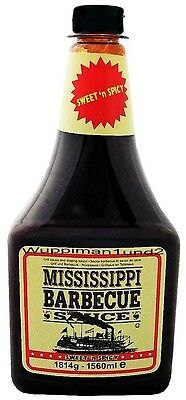 Mississippi Barbecue Sauce BBQ Grill Würzsauce Sweet ´n Spicy,Grossflasche,Neu