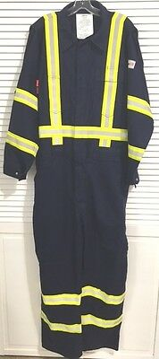 Lakeland 9 oz. FR Flame Resistant Cotton Coveralls w/ Reflective Trim HRC2 (XL)