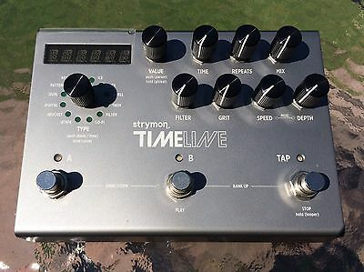Strymon Timeline Delay Looper Pedal With Adapter, Multi switch & Midi Interface