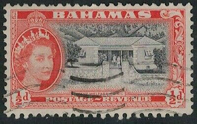 Lot 2871 - Bahamas – 1954 ½d black & red QEII used definitive stamp