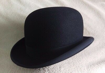 Vintage Dunn & Co Bowler Hat - Real Roan Leather - UK 7 - Derby Formal Riding