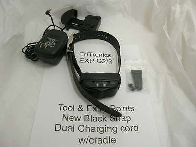 TriTronic Shock Collar G2/3 USED on Black strap w/charger hounds gps trackingdog