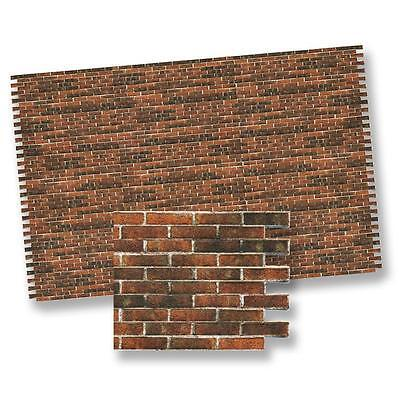 Dollhouse Miniature Antique Brick Wall Material Wallpaper by World Model