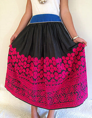 Vintage Rabari Long Embroidered Skirt