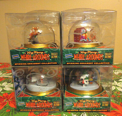 VTG Christmas Ornament/Toy Snoopy Charlie Brown New in Box Blockbuster Set of 4