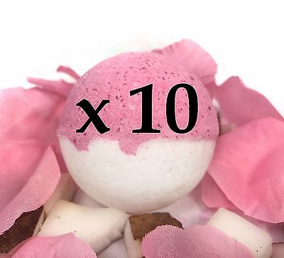 10 Large Bath Bombs -Tropical Fruit Scent- Cherry Colada - Handmade by Luxxy