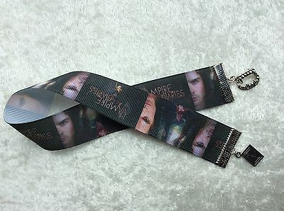 Vampire Diaries themed ribbon bookmark