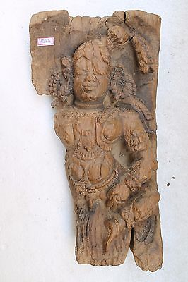 Vintage South Wooden Carved Old Temple Chariot Lady,unique,collectible Nh3544