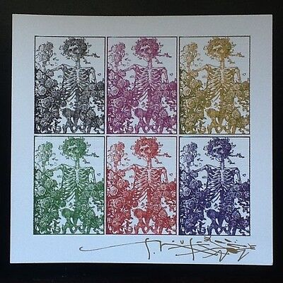 Blotter Art Stanley Mouse 6 Panel Birtha  Signed  Perforated Sheet
