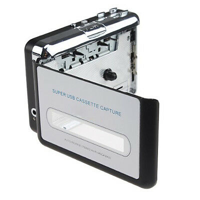 USB Portable Cassette to MP3 Converter Tape-to-MP3 Player with Headphones F5I3