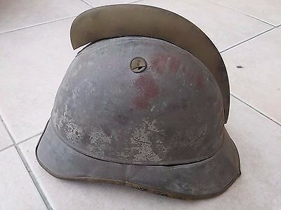 Original German Wwi Fireman Helmet Maybe For Kids ? Pickelhaube