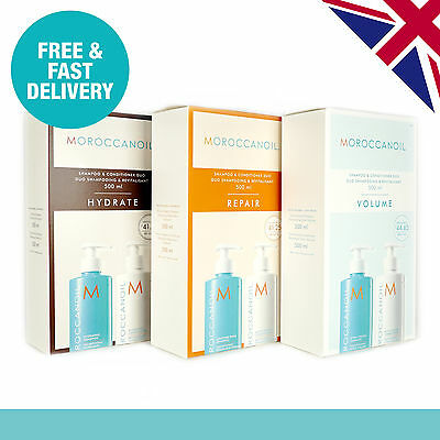 Moroccan Oil Shampoo and Conditioner 500ml Duo | Extra Volume | Hydrate | Repair