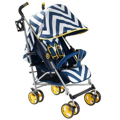 My Babiie MB02 Blue Chevron Stroller Pushchair