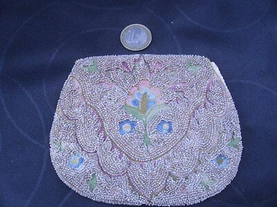 Beautiful Vintage 1920's-1930's French Beaded & Embroidered Purse, Deco Flapper