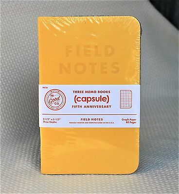 Field Notes Capsule 5th Anniversary Edition Sealed Notebook 3-Pack