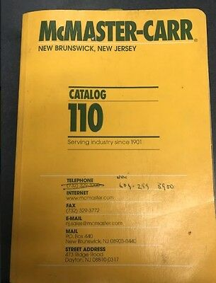 Used McMaster-Carr 2004 catalog #110