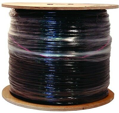 Coaxial Cable 500 Ft. Spool Black Quad Shield Outdoor TV Video