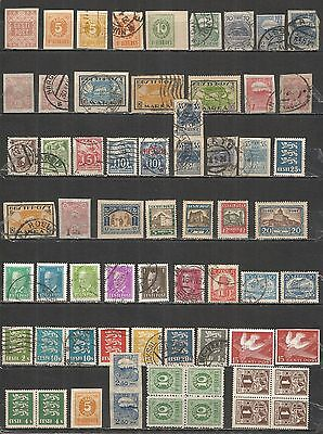 Estonia 1918 - 40 years , nice collections stamps used/mint