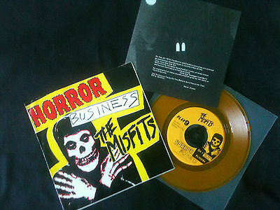 "Misfits - Horror Business  EP  7""  US 1979 G+/VG+  Yellow vinyl   # Punk"
