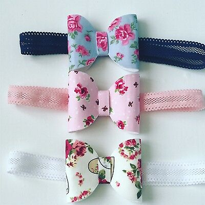 Floral Bow With Lace Band Baby Girl Headbands Newborn Toddler Accessories + Lot
