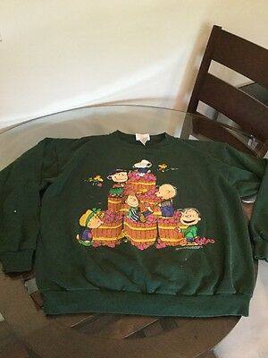 Age Peanuts The Whole Gang Charlie Brown Snoopy 50s 60s Sweatshirt XL