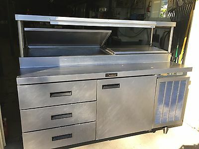 Delfield Refrigerator Sandwich Salad Station with Stainless Steel Upper Shelf